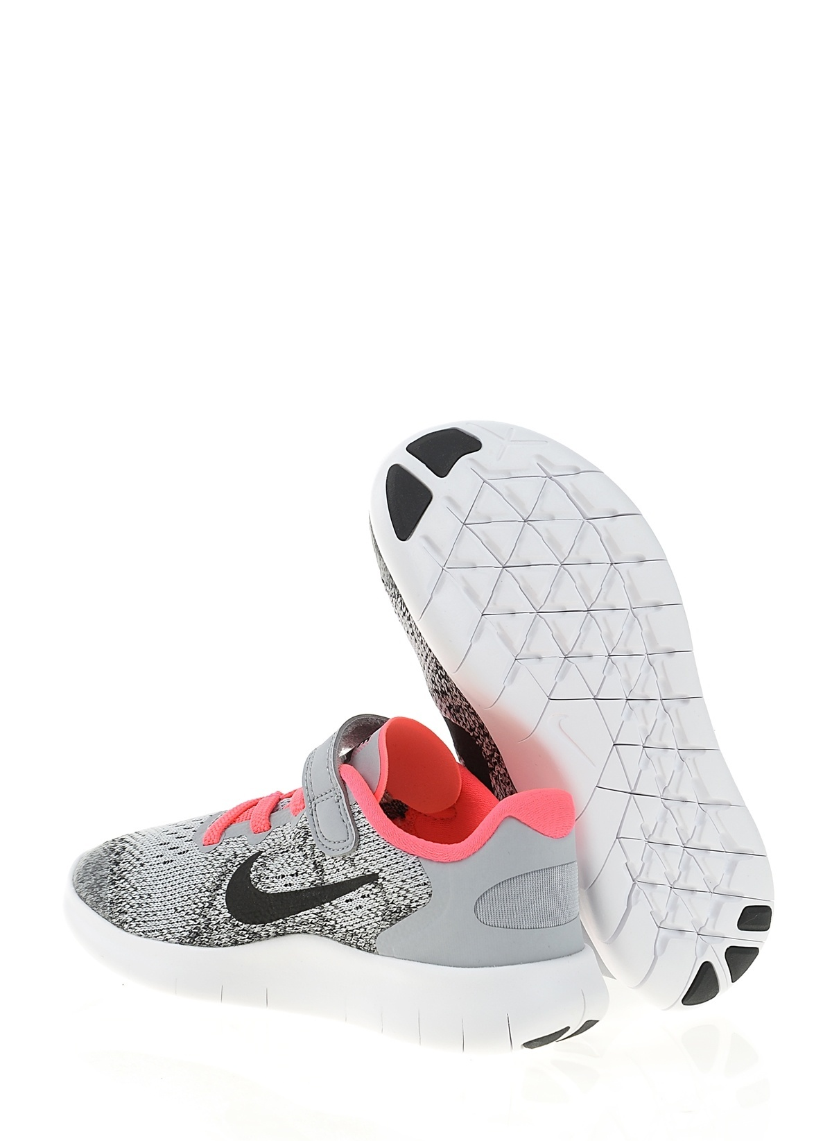 a890637f5cb4a Nike Kız Çocuk Free Rn 2017 Wolf Grey Black-Racer Pink-Whi